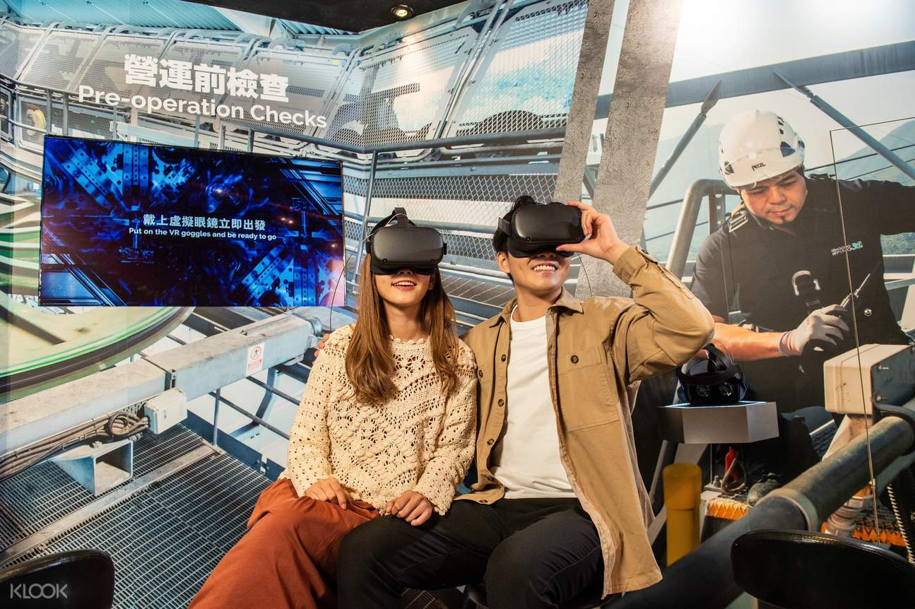 a couple is wearing a vr goggles